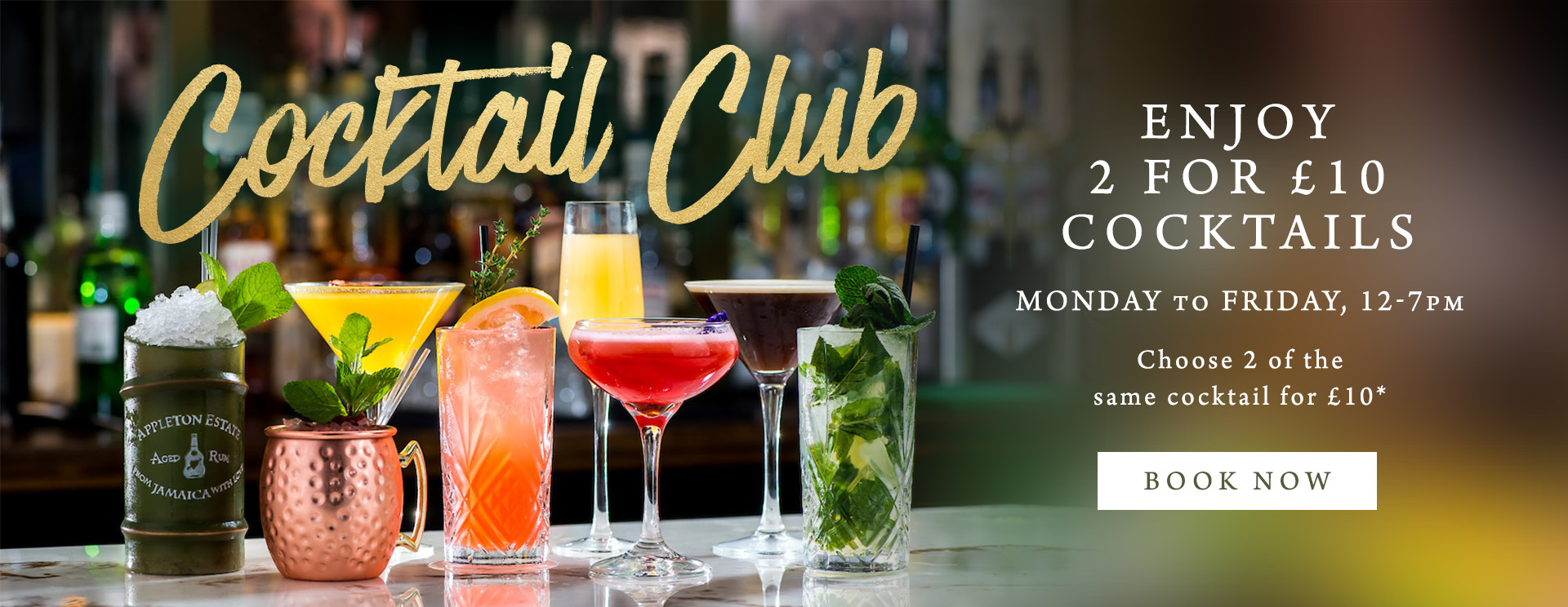 2 for £10 cocktails at The Orange Tree