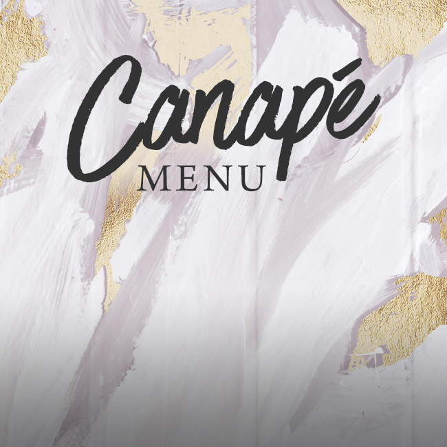 Canapé menu at The Orange Tree