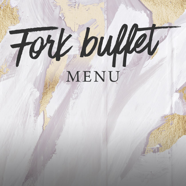 Fork buffet menu at The Orange Tree