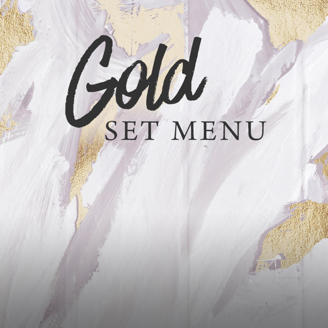 Gold set menu at The Orange Tree