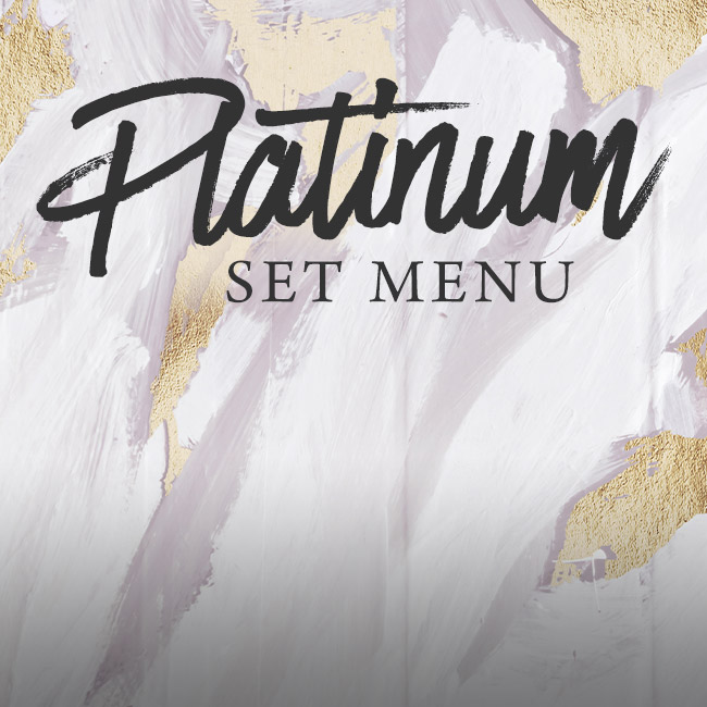 Platinum set menu at The Orange Tree