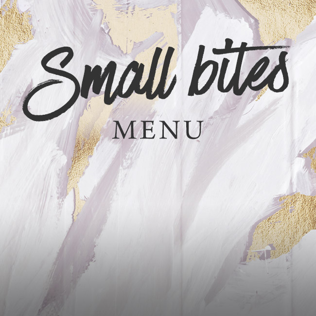 Small Bites menu at The Orange Tree