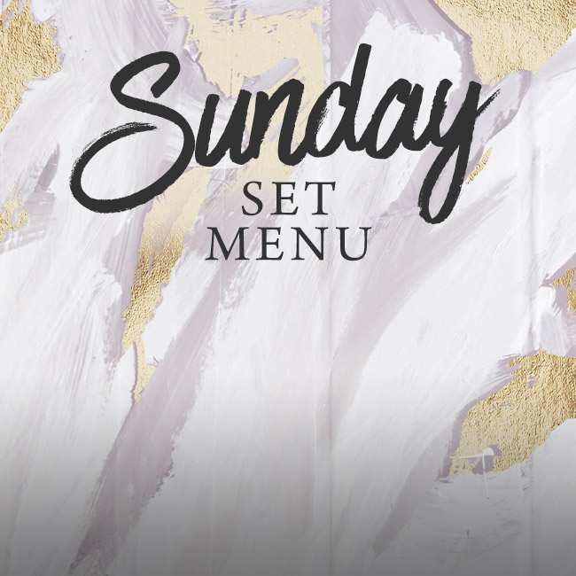 Sunday set menu at The Orange Tree
