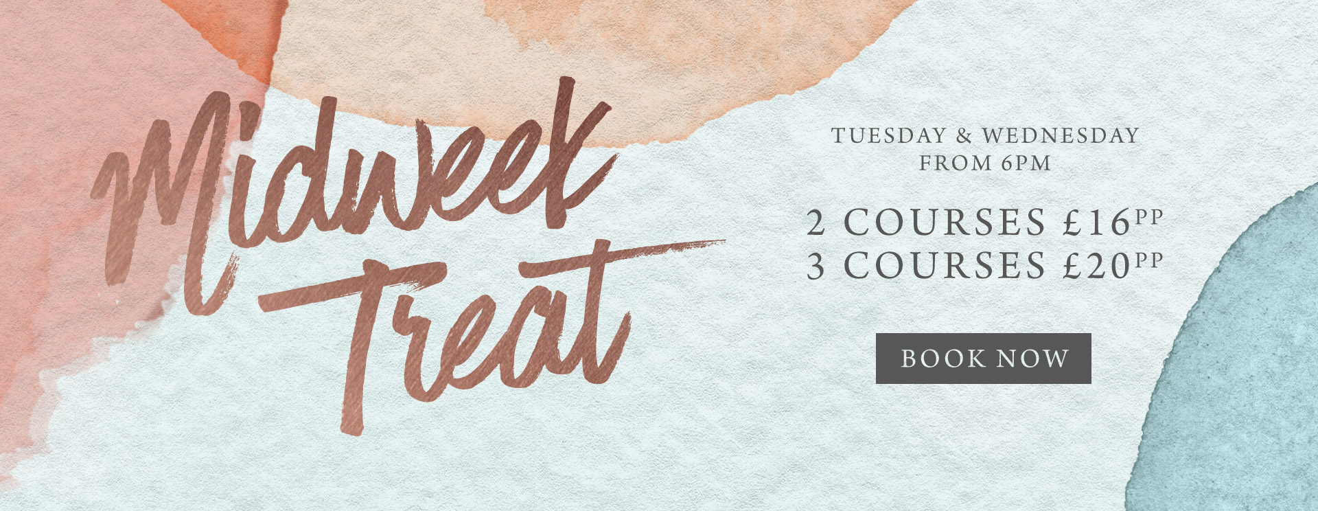 Midweek treat at The Orange Tree - Book now
