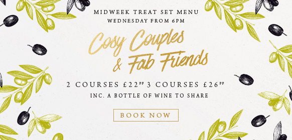Midweek treat set menu at The Orange Tree