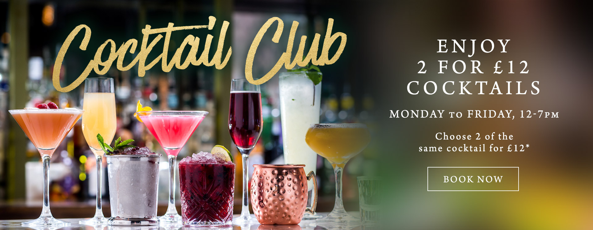 2 for £12 cocktails at The Orange Tree